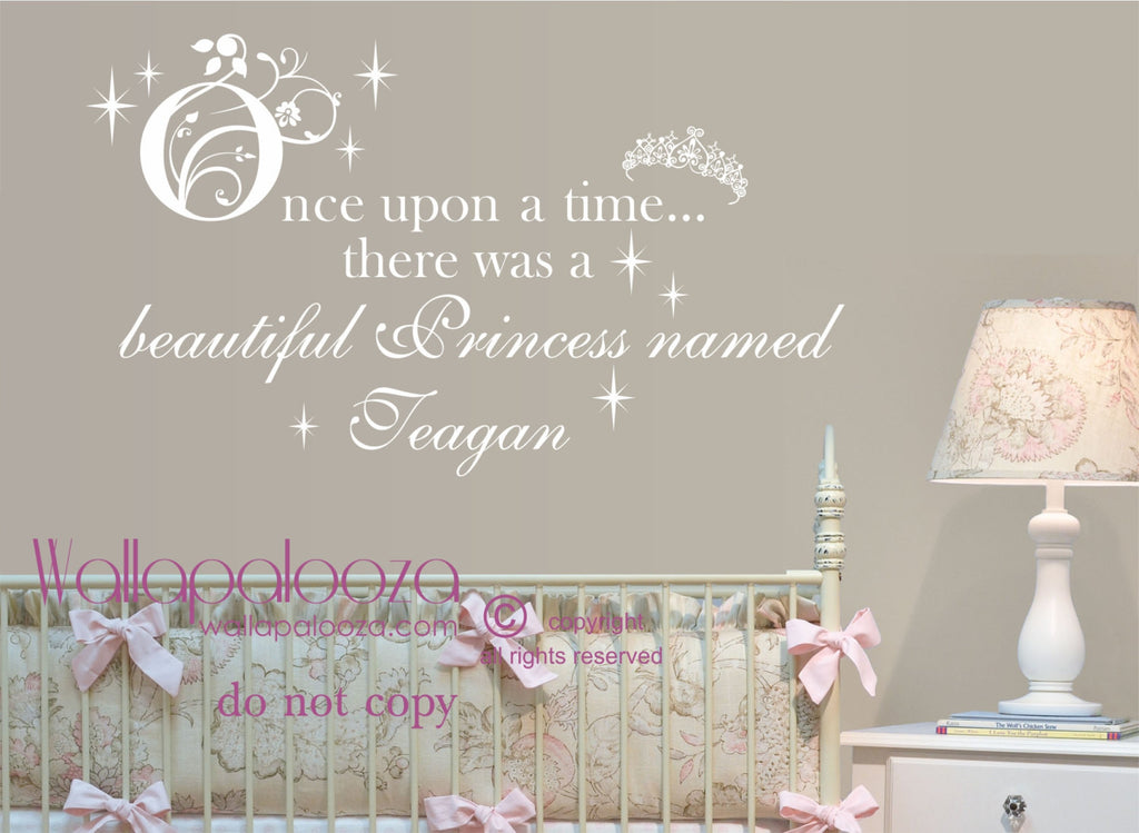 Once Upon A Time Princess Wall decal - Princess Wall Decal - Girl\'s Bedroom  Wall Decal
