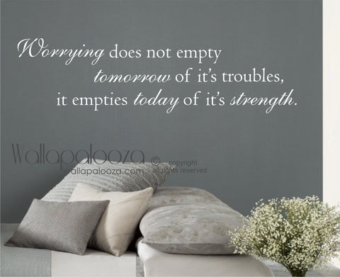 Inspirational Wall Quote - Strength Wall Decal - Wall Art