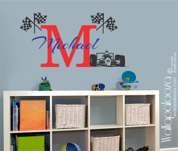 Racing wall decal - Kid's Racing decal - Race wall decal - Nursery wall decal