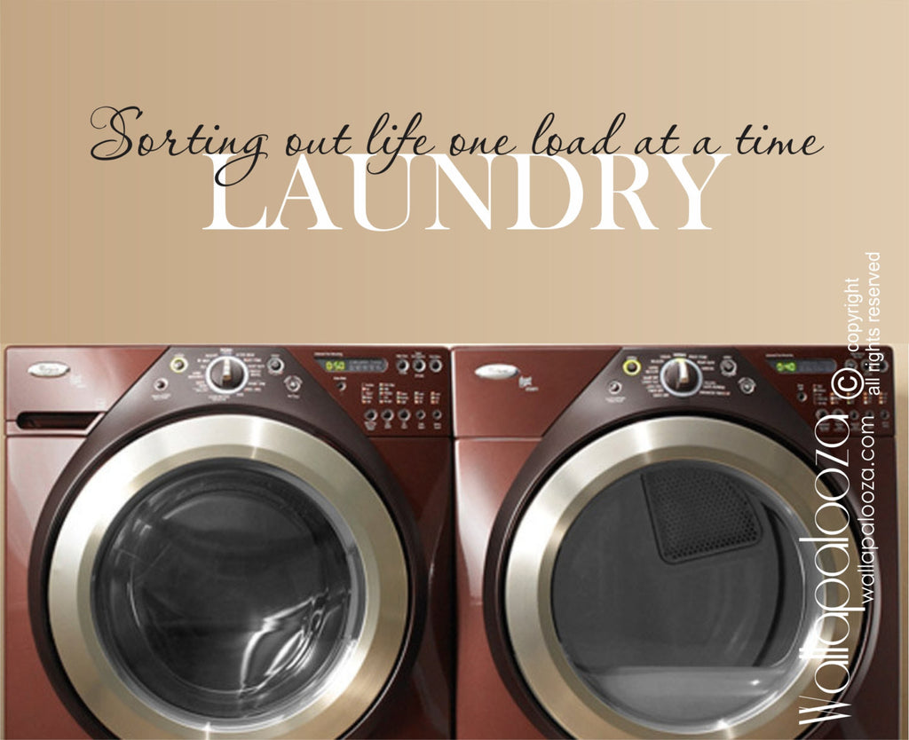 Laundry Room Wall Decal   Laundry Wall Sticker   Laundry Room Decor