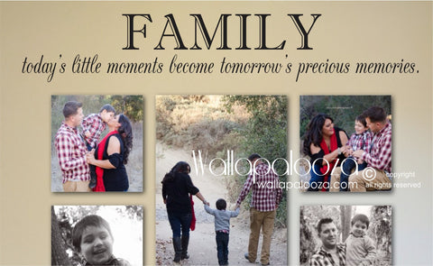 Today's little moments family wall decal