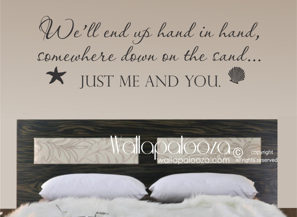 Just Me And You Wall Decal Love Wall Decal Beach Wall Art