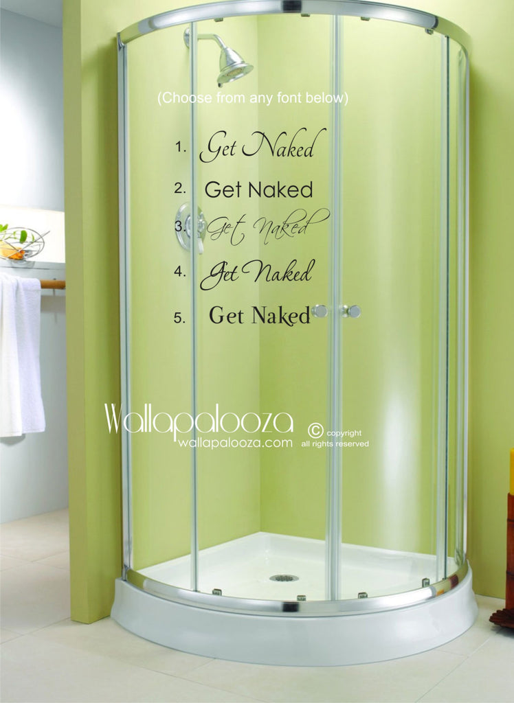 Get Naked Decal  - Bathroom Decor