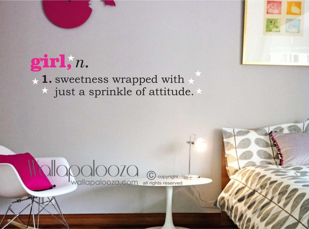 Girl Definition Wall Decal - Girls room wall decor - kids playroom wall art