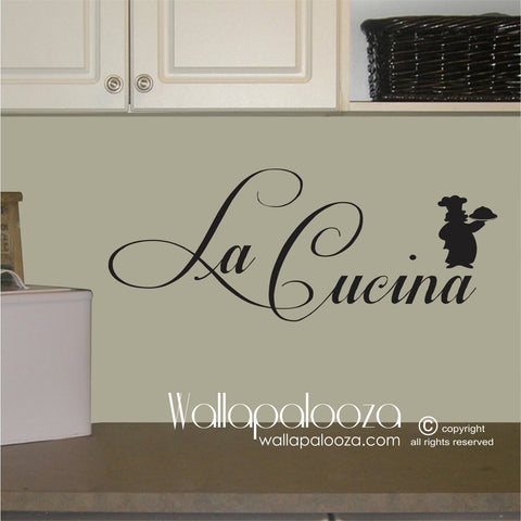 La Cucina - Kitchen Wall Decal - Kitchen wall art