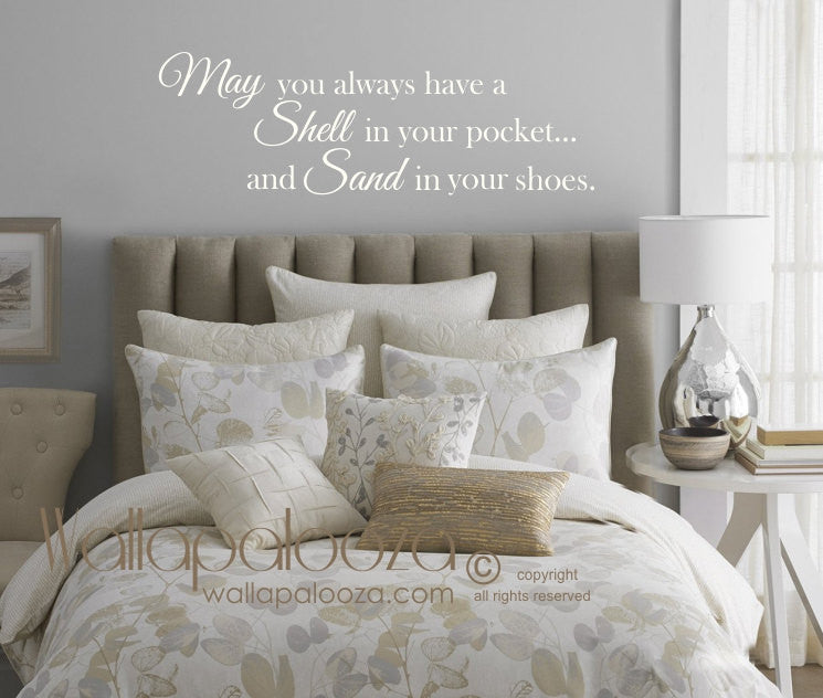 May You Always Have A Shell In Your Pocket Wall Decal   Beach Wall Decal