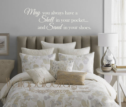 May you always have a shell in your pocket wall decal - Beach Wall Decal - Beach Wall Decor