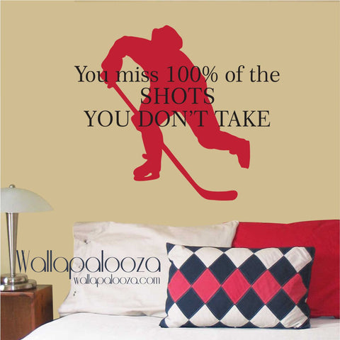 Hockey Wall Decal - WAYNE GRETZKY'S Quote - Hockey Wall Decor