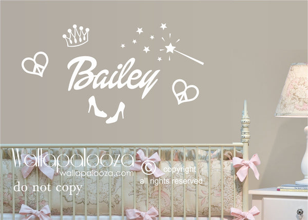 Princess Wall Decal - Nursery Wall Decal - Girl's Wall Decal