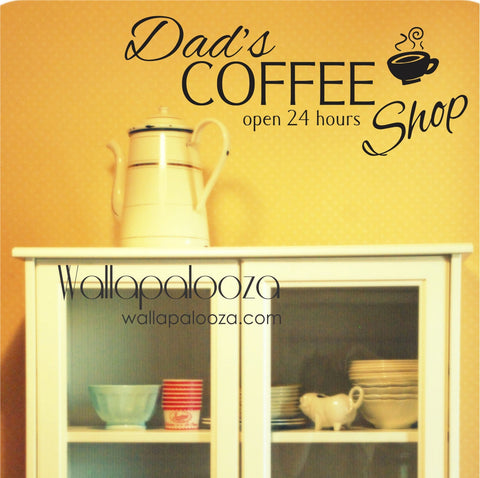 Kitchen Wall Decal/Custom Coffee Wall Decal