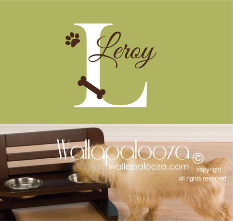Pet Wall Decal  - Custom Pet wall decal - Pet name decal - pet sticker