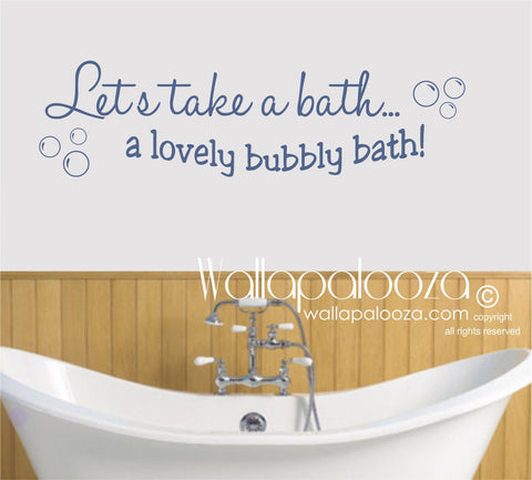 Bathroom Wall Decal - Bathroom wall decor - Bubble Bath