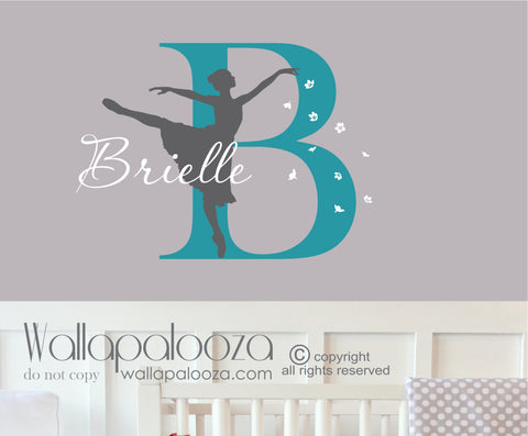 Ballerina wall decal - Ballet wall decal - Dance wall decal