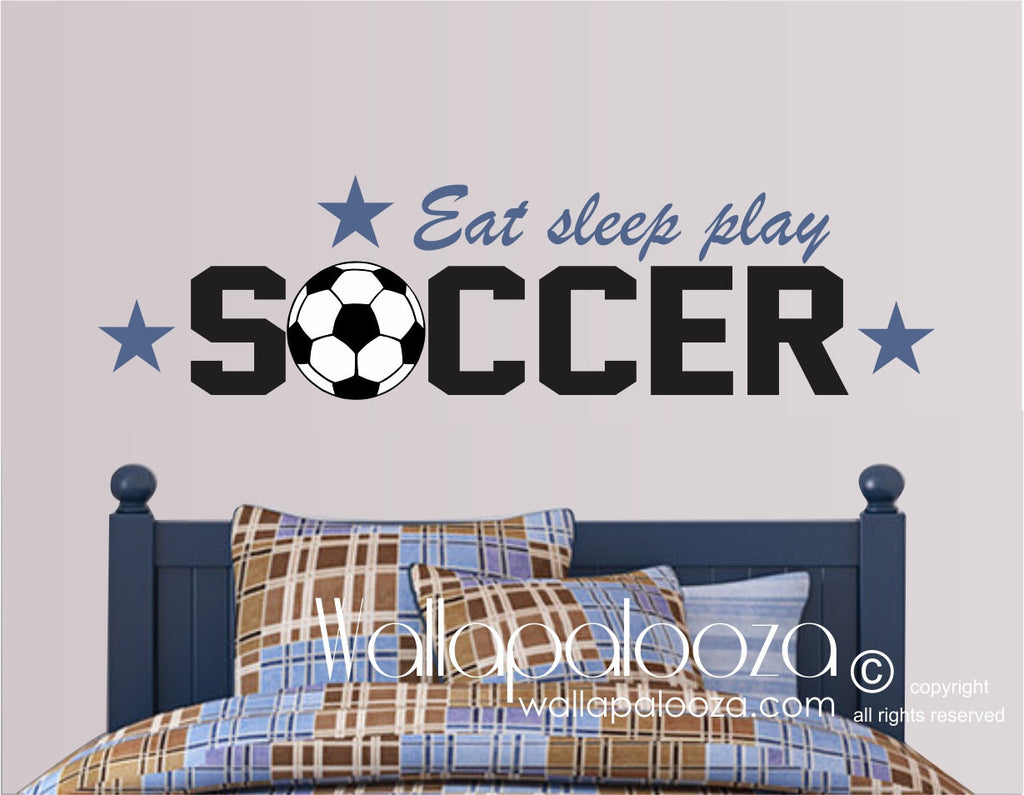 Soccer Wall Decor   Sports Wall Art   Sports Theme Wall Decal