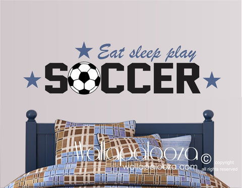 Soccer Wall Decor - Sports Wall Art - Sports Theme Wall Decal