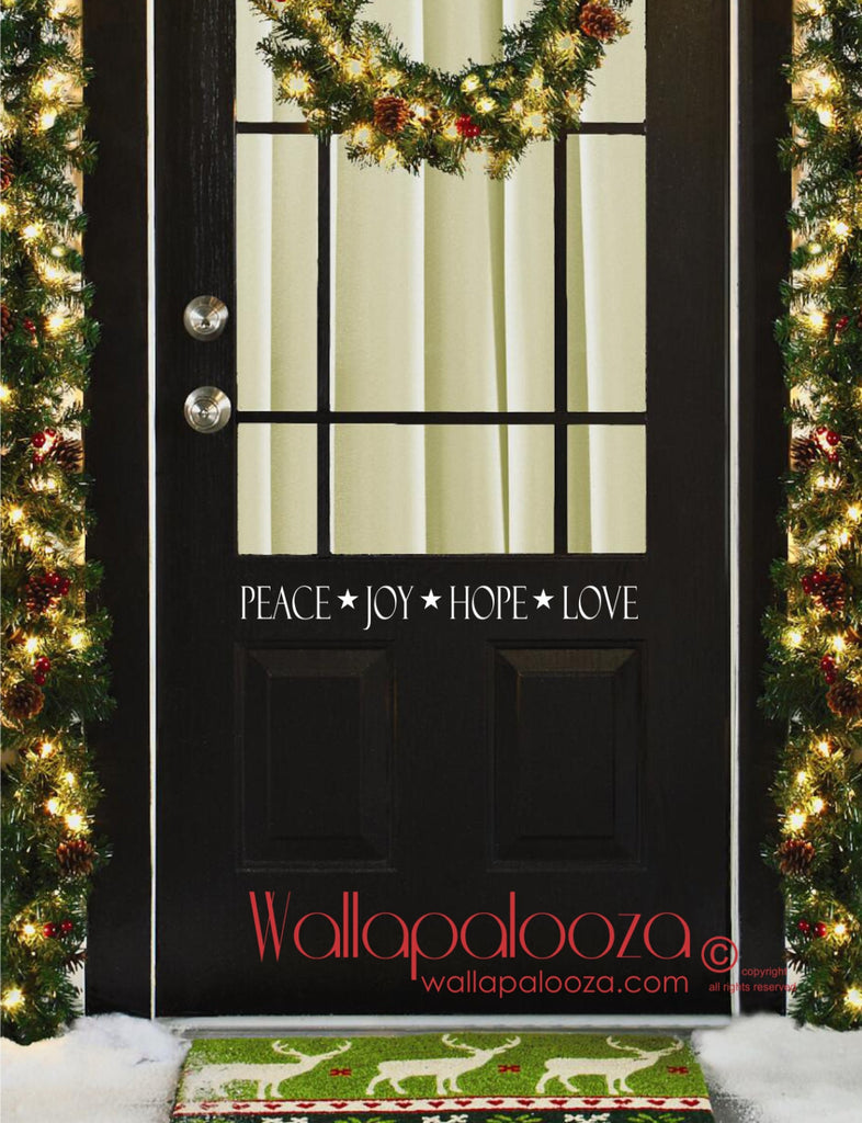Christmas door decal - Holiday decal - Door decal - door sticker