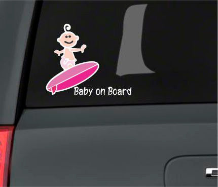 Baby On Board Car Decal - Car Decal - Vehicle Decal