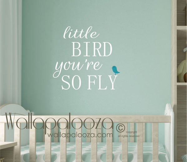 Nursery wall decal - Bird wall decal - nursery wall decor