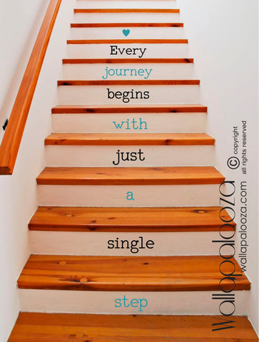 Every Journey begins with just a single step decal - Staircase decals