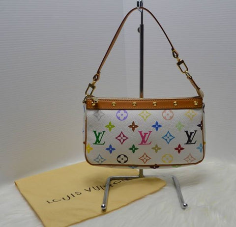Preloved Authentic Louis Vuitton Monogram Multicolore Accessories Pouchette