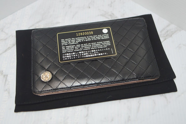 Preloved Authentic CHANEL Micro Quilted Lambskin Yen Wallet