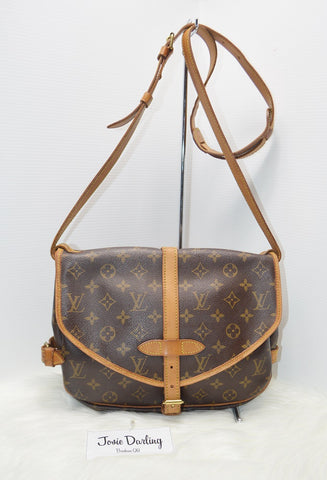 Preloved Authentic Louis Vuitton Monogram Canvas Saumur 30