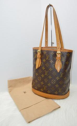 Preloved Authentic Louis Vuitton Monogram Canvas Petit Bucket Bag