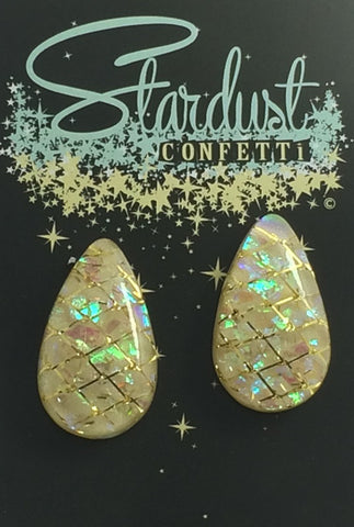 Stardust Confetti : Medium Tear- Lemon with stunning Gold Accent