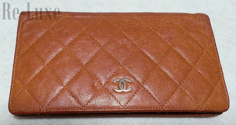 Preloved Authentic CHANEL Limited Edition Aged Calfskin Wallet