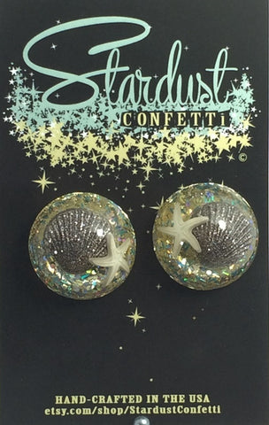 Stardust Confetti : Dome - Gold  Del Mar- clip on