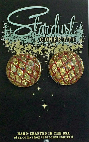 Stardust Confetti : Dome - Gold with Red accent