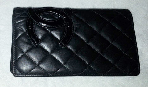 Preloved Authentic CHANEL Cambon CC Lambskin Wallet