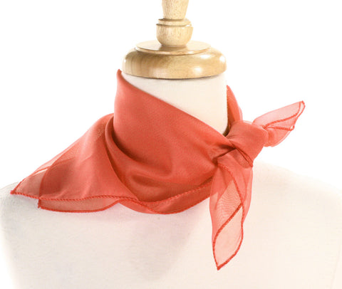 Poly Chiffon Pinup Scarf - CORAL