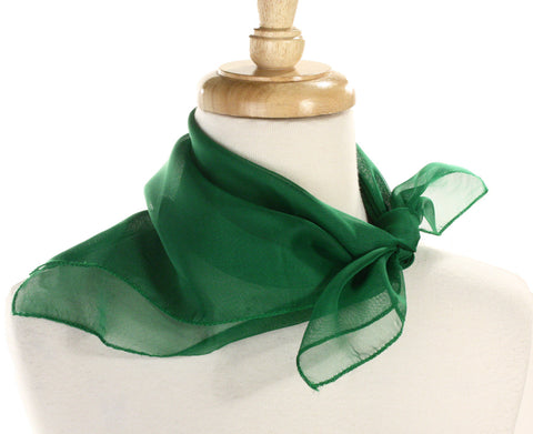 Poly Chiffon Pinup Scarf - KELLY GREEN