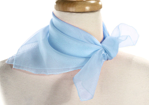 Poly Chiffon Pinup Scarf - BABY BLUE