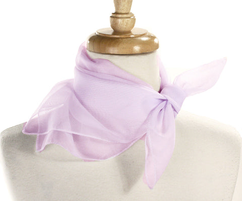 Poly Chiffon Pinup Scarf - VIOLET