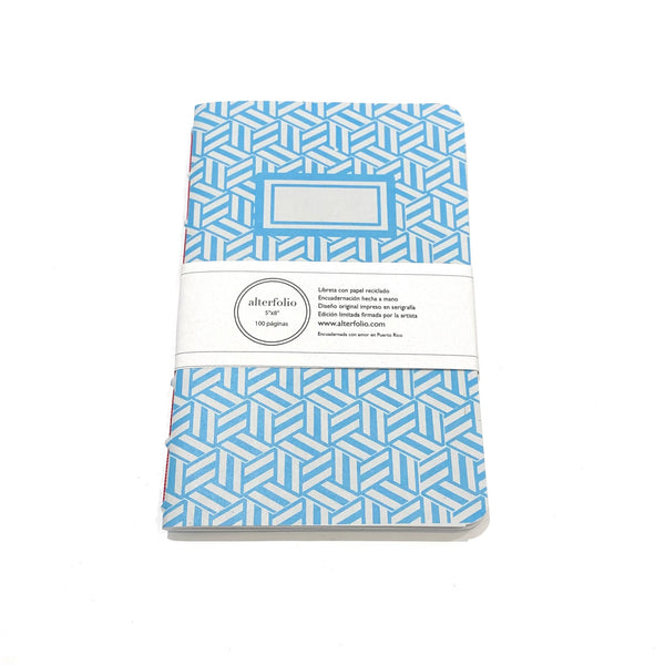 "ALTERFOLIO - Light Blue and White 5""x7"" Notebook"