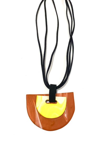 COCOLEÉ- Yellow and Terracota Necklace