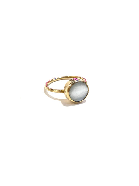 Aleishla- Brass Pearl Ring
