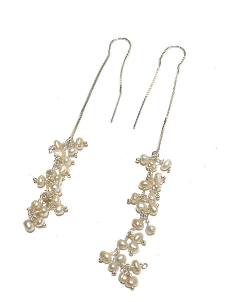 MONIQUE MICHELE - Threader Earrings - Pearls