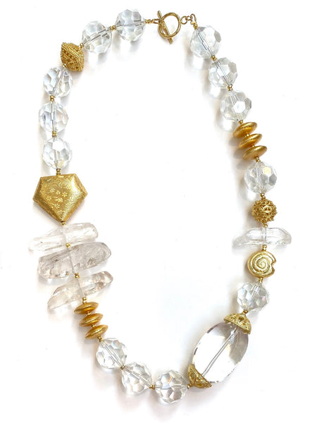 HC DESIGNS- QUARTZ STATEMENT NECKLACE