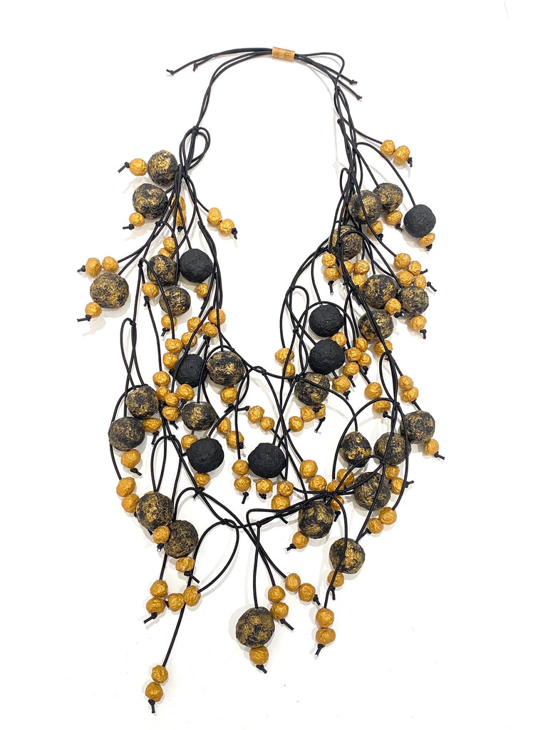 M. SÁNCHEZ- Multi Paper Clump Adjustable Necklace