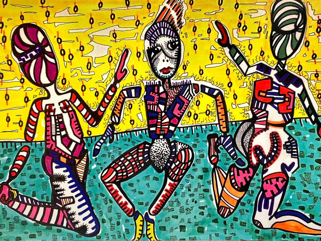 SUSANA CACHO- Art Print - 5x7 - Ladies Dancing