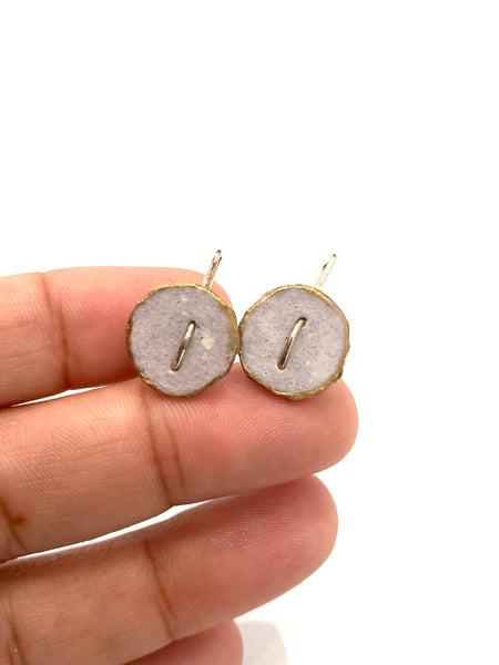 ECO FACTORÍA- Mini Round Earrings