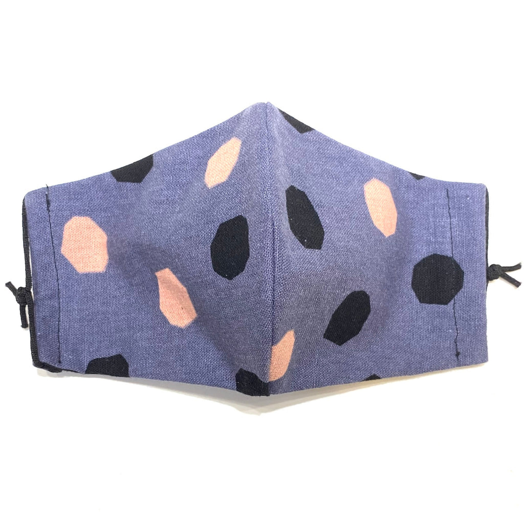 ITSARI - Face Mask Pink and Black Dots