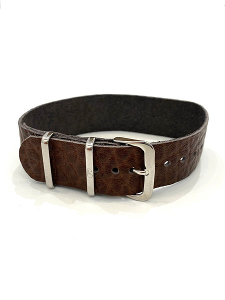 GEO- Leather Strap Collection - Brown