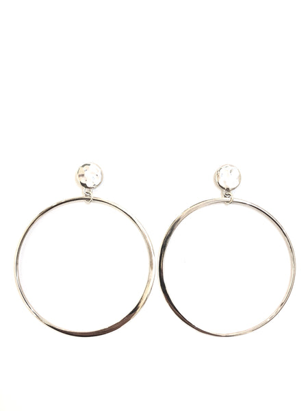 SUSANA CACHO- HAMMERED DISC HOOPS