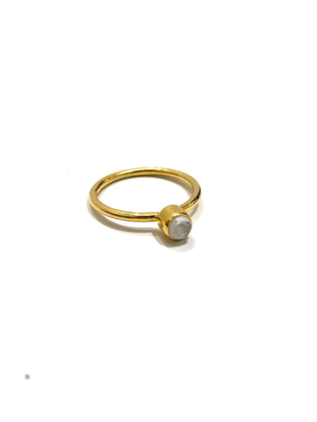 MONIQUE MICHELLE - Vermeil Moonstone Ring- Round Cut