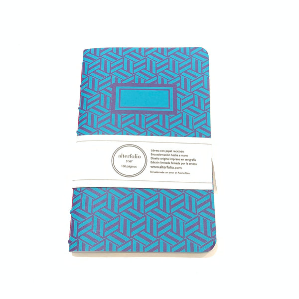 "ALTERFOLIO - Blue and Purple 5""x7"" Notebook"