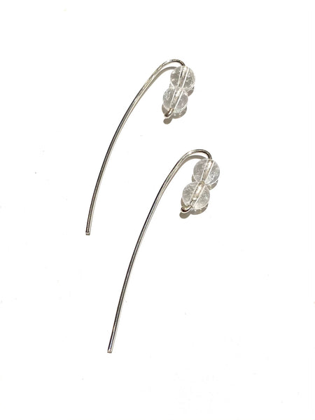 UNEVEN JEWELRY - Stick Earrings - Clear Quartz